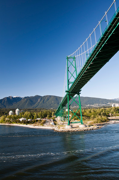 Lions Gate bridge as we passed under it on our cruise.