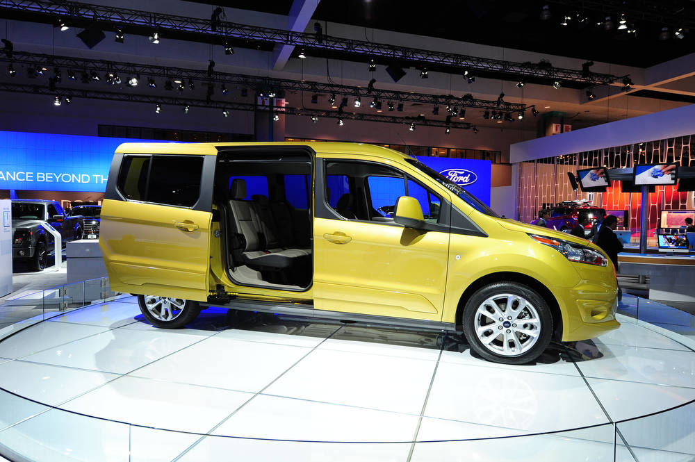 Description of . The new seven-passenger Ford Transit Connect Wagon is on display at the 2012 Los Angeles Auto Show in Los Angeles, California on media preview day, November 28, 2012.   The LA Auto Show will open to the public on November 30 and runs through December 9AFP PHOTO / Robyn BeckROBYN BECK/AFP/Getty Images