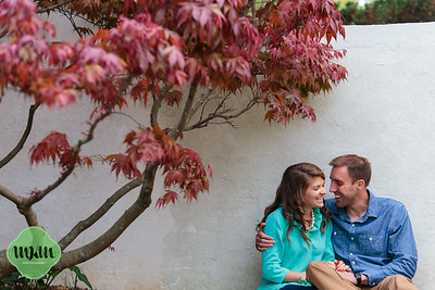 Ashlyn & Nathan   A Romantic & Cuddly Engagement at Raulston Arboretum