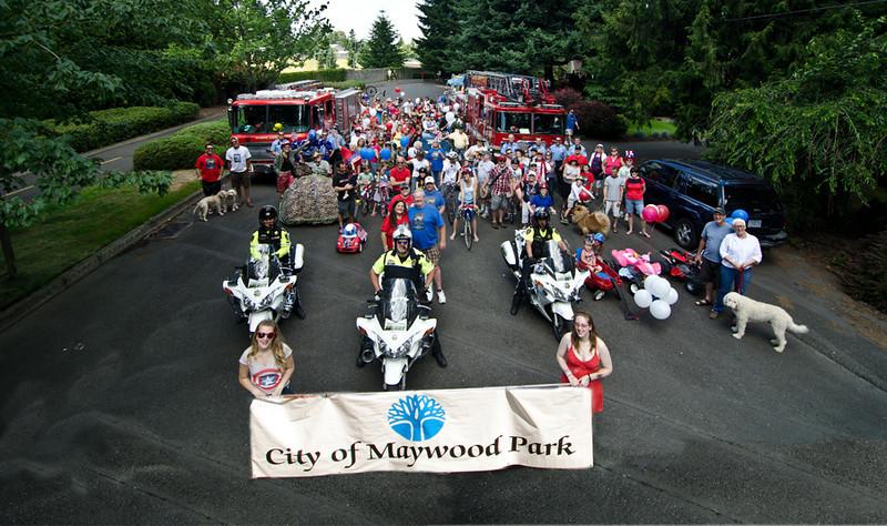 Maywood Park July 4th Parade & Picnic 2013