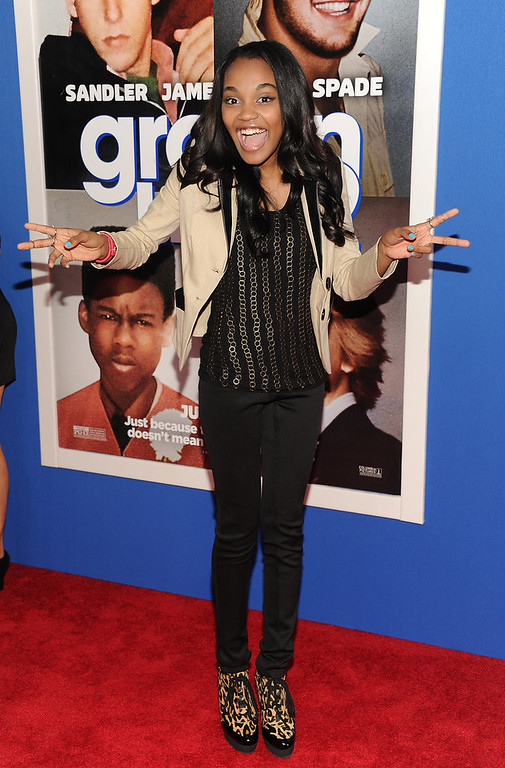 """. Actress China Anne McClain attends the premiere of \""""Grown Ups 2\"""" at the AMC Loews Lincoln Square on Wednesday, July 10, 2013 in New York. (Photo by Evan Agostini/Invision/AP)"""