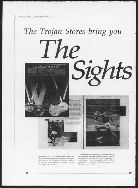 Summer Trojan, Vol. 96, No. 8, July 20, 1984
