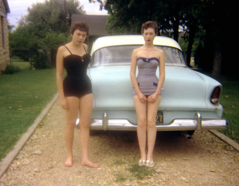 Darla & a friend, c 1958, Fort Worth, Texas