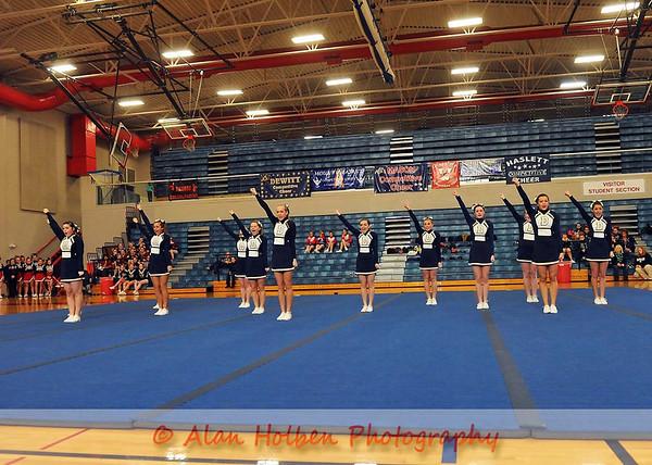 Cheer at Mason Feb 4 - Dewitt varsity - Round 1