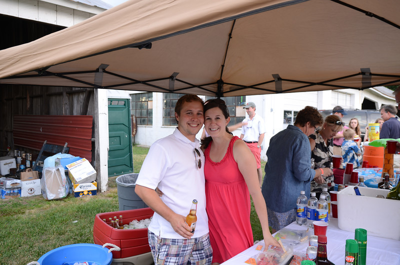 bar tenders Kevin Cross and Lucy Norton