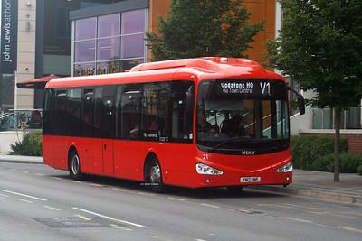 21, YN17ONF, Reading Buses (Vodafone), Park Way, Newbury