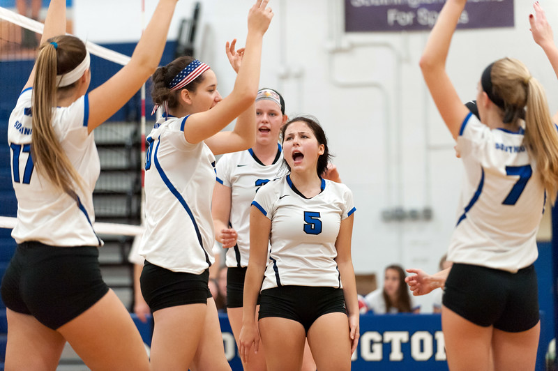 10/23/18  Wesley Bunnell | Staff  Southington volleyball defeated Norwich Free Academy 3-0 on Tuesday evening at Southington High School. Olivia Carpenter (5).