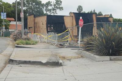 Car Crashes into new Habit Burger Construction