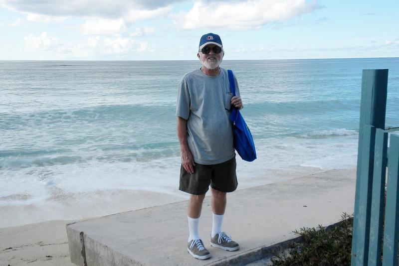 Frank on the beach near Cockburn Town in Grand Turk
