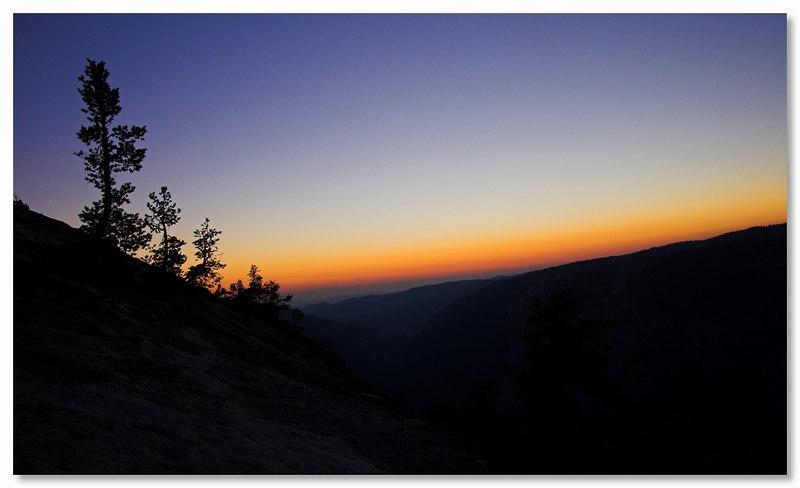 Sunset from Sentinel Dome, Yosemite September 2006.