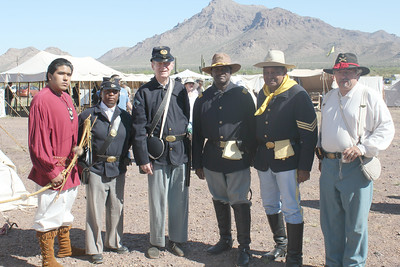 ARIZONA BUFFALO SOLDIERS, MESA, AZ. Civil War in the Southwest, Picacho Peak Park, Eloy, AZ. Buffalo Soldiers of the Arizona Territory - Ladies and Gentlemen of the Regiment.  March 21st and 22nd , 2015