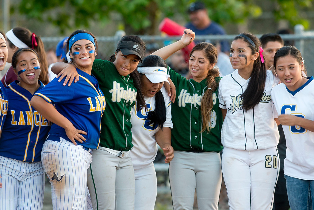 . San Gabriel Valley all-star softball game at Diamond Bar High School on Monday, June 3, 2013. South team won 10-5. (Staff photo by Watchara Phomicinda/ Los Angeles Media News Group)