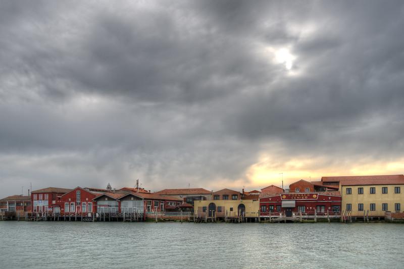 Cloudy Sunset - Murano, Venice, Italy - April 18, 2013