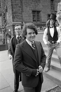 (Front to back) Scott McNutt, Leo Laporte, Bill Keene - Trumbull College Freshmen, Spring 1974