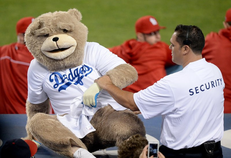 ". <p>10. (tie) FAKE MASCOTS <p>They get laid every bit as often as real mascots, which is to say not often at all. (7) <p><b><a href=\'http://www.nbclosangeles.com/news/sports/Dancing-Rally-Dodgers-Bear-Dustin-Hoffman-227824011.html\' target=""_blank\""> HUH?</a></b> <p>    (Harry How/Getty Images)"