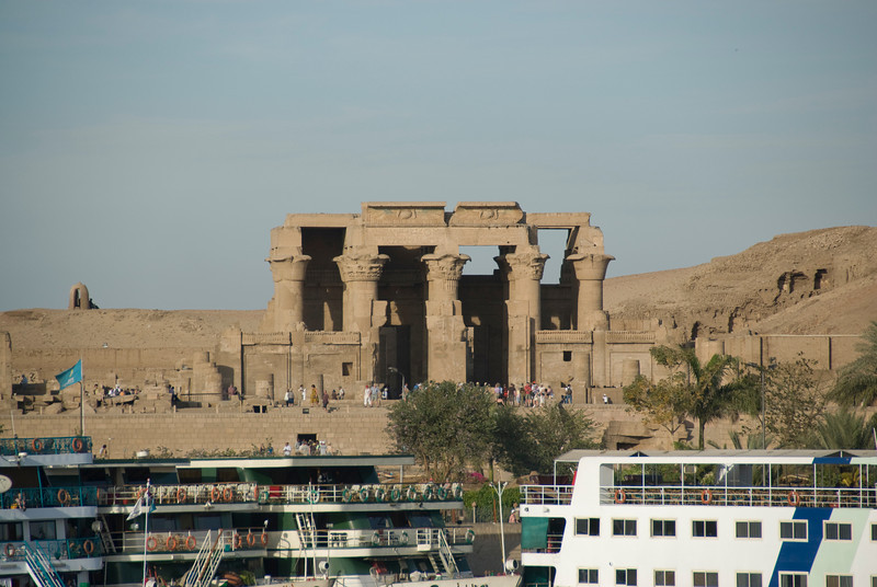 View of the Temple of Kom Ombo from the Nile River - Komombo, Egypt