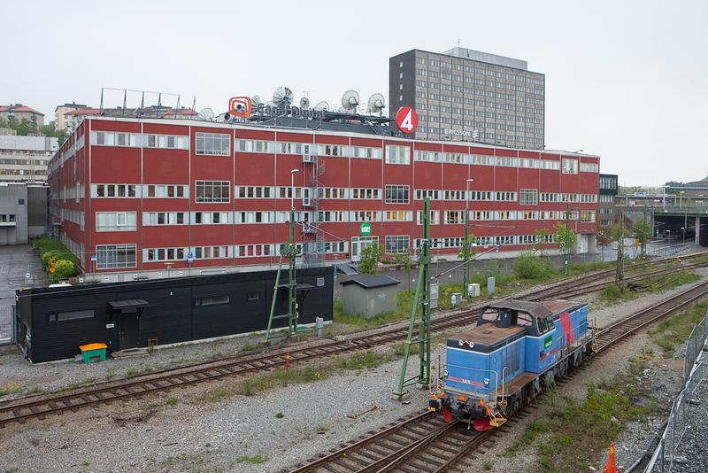 Green Cargo T44 345 lays over in Värtan.
