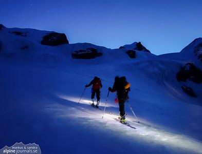 Castor and Pollux ski tour, Aosta Valley 2014-04-07