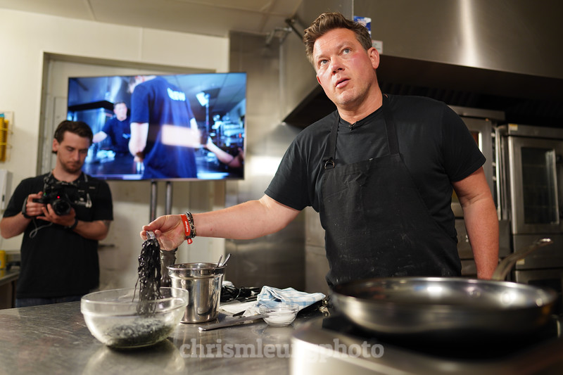 """8/14/19 Sony Kando 3.0  in Sunriver, OR. """"Lights, Camera, Appetite with Tyler Florence. ©Chris M. Leung Photography,"""