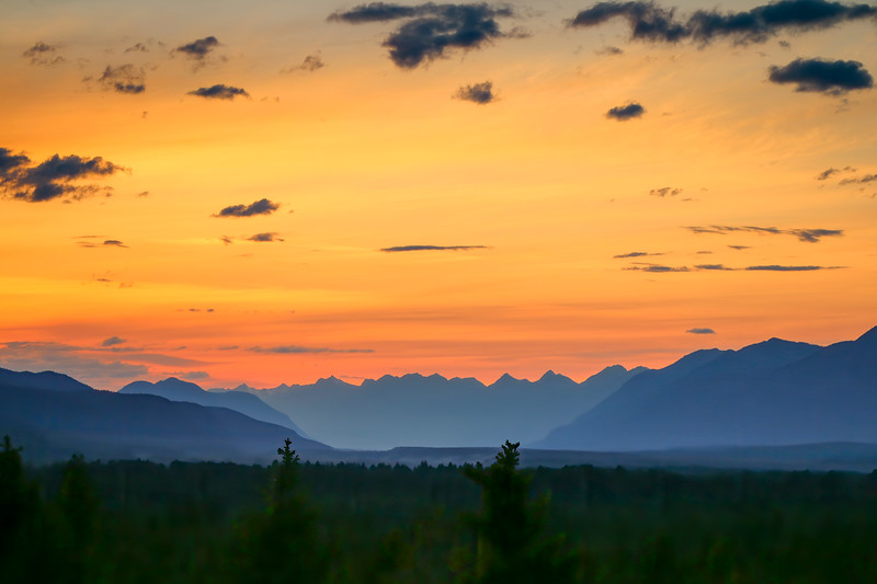Sunset, Kootenay National Park