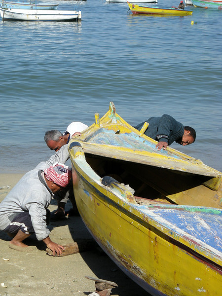 repairs on a boat, Alexandria