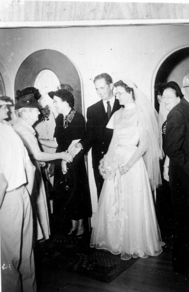 Maria Jacob and Walter A. 'Rip' Smock wedding September 9, 1950