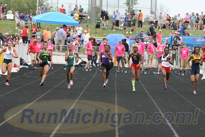 100M Girls' Finals - 2016 MHSAA LP D1 TF Finals