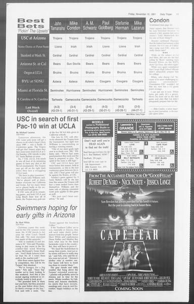 Daily Trojan, Vol. 116, No. 53, November 15, 1991
