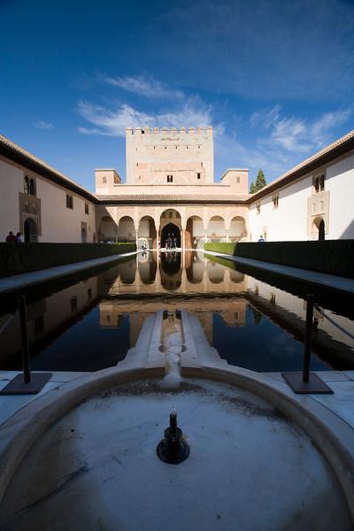 Torre de Comares and Patio de los Arrayanes, Alhambra, Granada, Spain