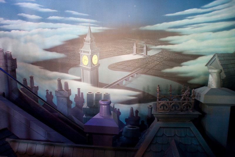 Peter Pan ride entry background.