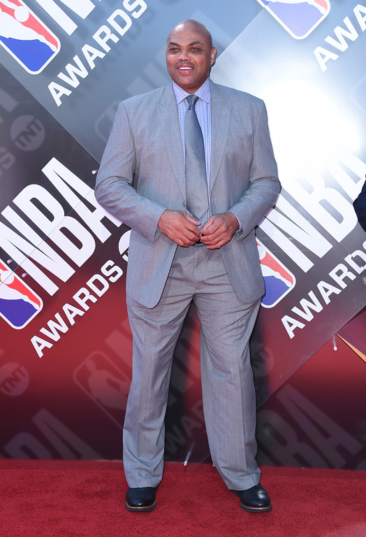 . Charles Barkley arrives at the NBA Awards on Monday, June 25, 2018, at the Barker Hangar in Santa Monica, Calif. (Photo by Richard Shotwell/Invision/AP)