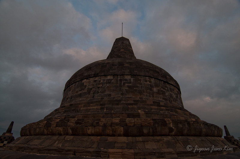 The main dome of Borobudur temple
