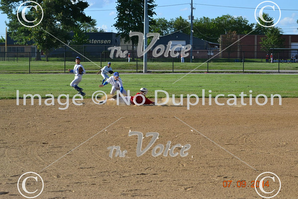 Aurora Pony League baseball Jordan Legal vs  Kiwanis 7-13-14