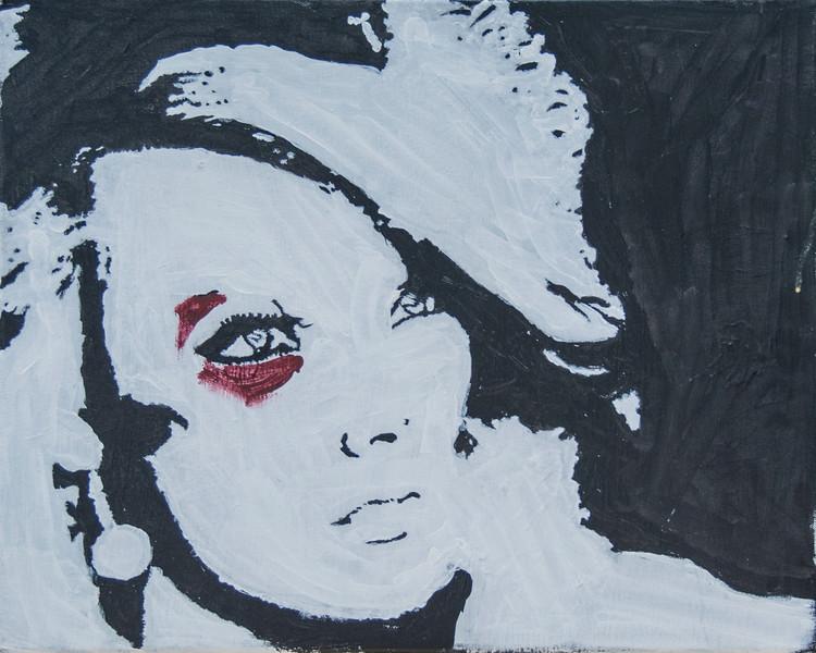 "10.""Portait of Rhianna"" Acrylic on Canvas 20""x16"""