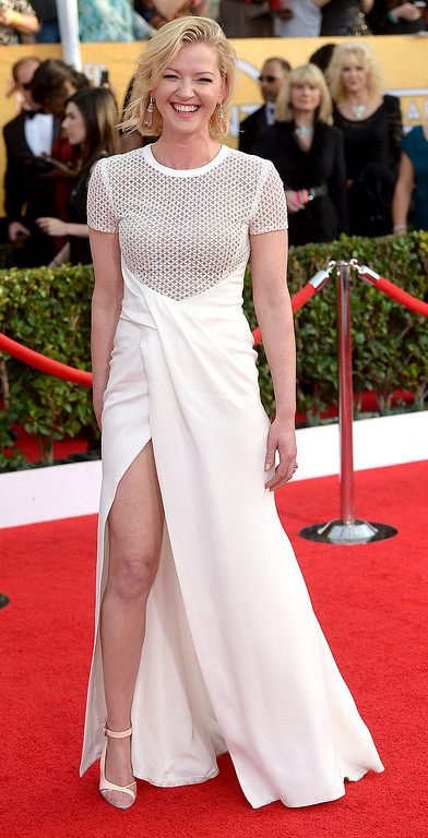 . arrives at the 20th Annual Screen Actors Guild Awards  at the Shrine Auditorium in Los Angeles, California on Saturday January 18, 2014 (Photo by Michael Owen Baker / Los Angeles Daily News)