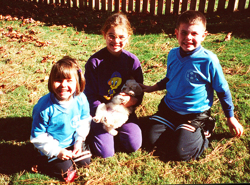 First day with our Teddy!!  October 2001 in Snellville, GA