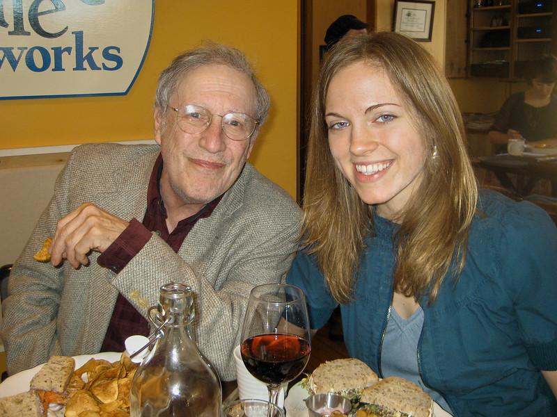 Larry Lebin, Annie, at Elk Creek Cafe, Millheim PA. Feb 21 2010