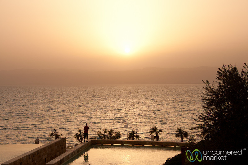Sun Sets over the Dead Sea, Jordan