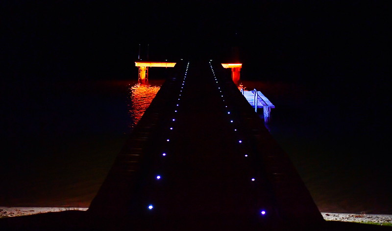 Lights on Barmera Jetty