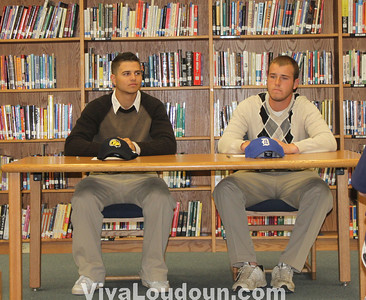 College Signing: Stone Bridge Baseball - Berger and Schofield - May 13