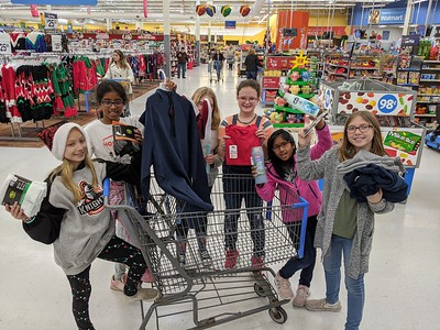 Adopt a family shopping trip