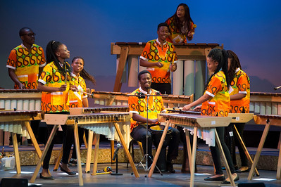 Maru-A-Pula Marimba Band visits Taft