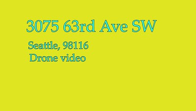 3075 63rd Ave SW/Drone Video