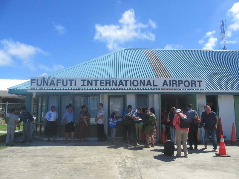 015_Funafuti. International Airport. Former Twin Brother Kiribati (The Gilbert Islands) is 400km away. No flight to Kiribati, by boat only, 3 days and 3 nights.JPG
