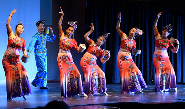 3/24/2018 Mike Orazzi | Staff Dancers from East Culture Arts, Inc. during The Queen Ann Nzinga Center's 9th annual Connie Wilson Collins Exceptional Women Concert, honoring outstanding women from the Greater Bristol, Plainville and New Britain community, held at Trinity on Main Saturday evening.