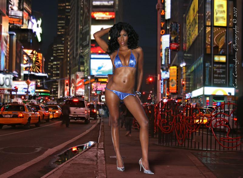 Toni in Times Square
