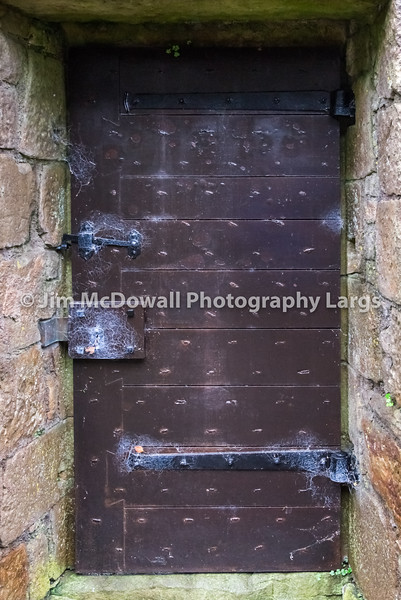 Ancient Studded Wooden Door