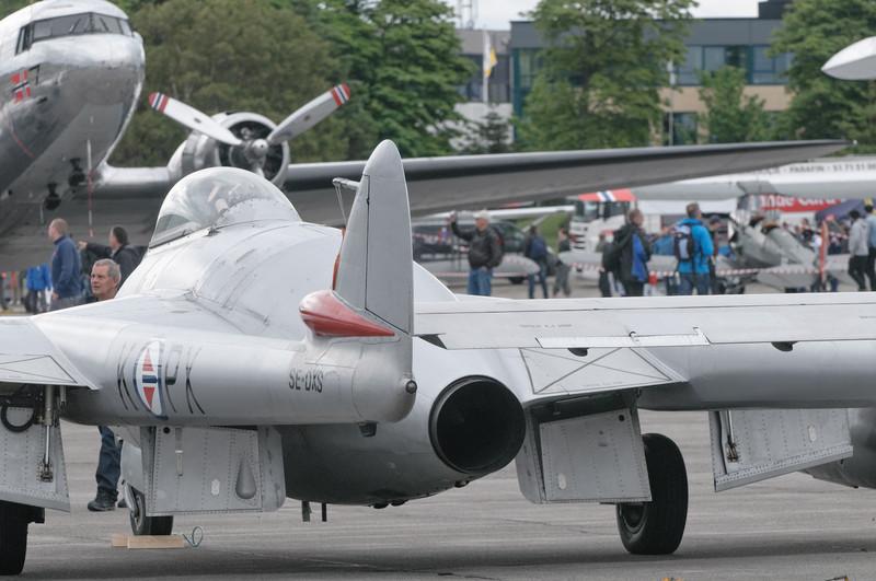 Auch dieser CVampire Jet aus den frühen 50-zigern sah nicht schlecht aus. Und flugtüchtig ist er immer noch!