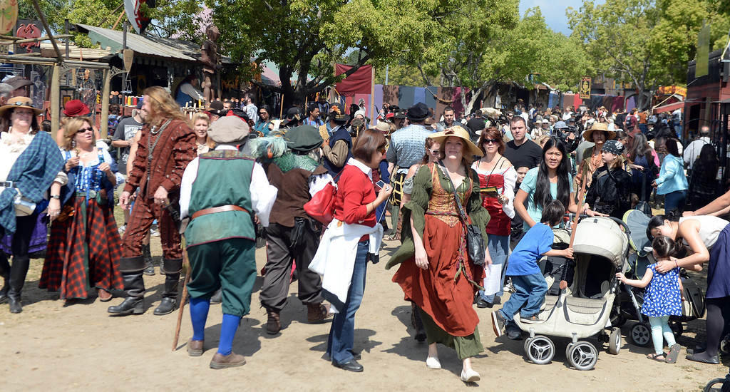 . Hundreds enjoy opening day of the Renaissance Pleasure Faire at Santa Fe Dam Recreation Area in Irwindale, Calif., on Saturday, April 5, 2014. 