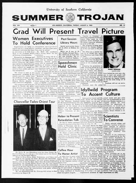 Summer Trojan, Vol. 13, No. 11, August 06, 1963
